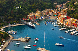Coastline of French Italian Riviera